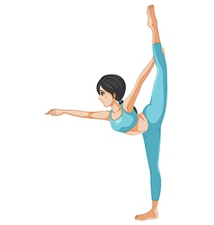 A girl stretching her body vector image vector image