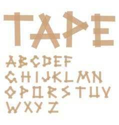 adhesive tape alphabet vector image vector image