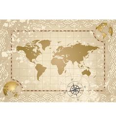 Antique world map vector