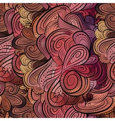 Beautiful decorative floral pattern vector image vector image