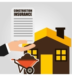 construction insurance vector image