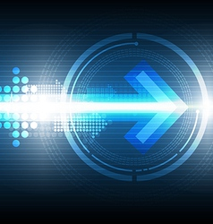 digital arrow technology background vector image