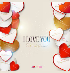 elegant background with hearts valentines day vector image vector image