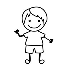 figure happy boy icon vector image