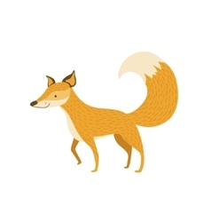 Fox Smiling Standing Like A Dog vector image vector image