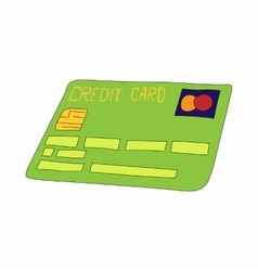 Green credit card icon cartoon style vector image vector image