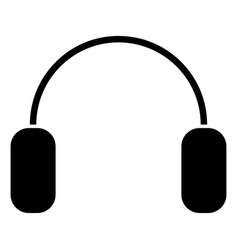 headphone the black color icon vector image vector image