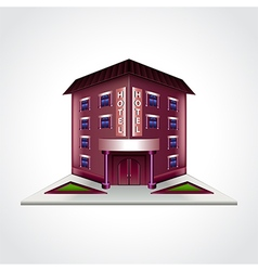 Hotel building isolated vector image