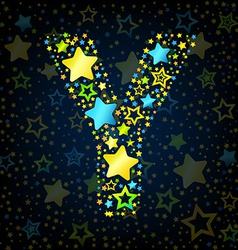 Letter Y cartoon star colored vector image vector image