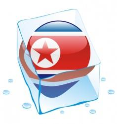 north Korea flag vector image vector image