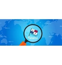 panama map world location flag vector image vector image