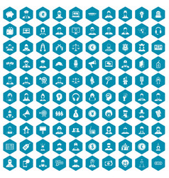100 headhunter icons sapphirine violet vector