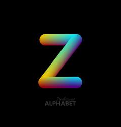 3d iridescent gradient letter z vector