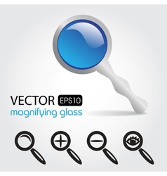 a magnifying glass icon vector image