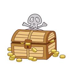 A treasure chest vector image