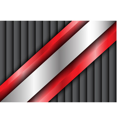 Abstract metal silver red gray shutter vector