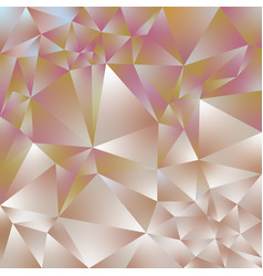 Abstract polygonal square background rose gold vector