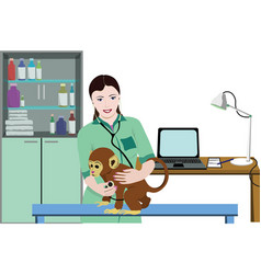 animal medical treatment template vector image