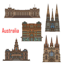 australia cathedral buildings sydney architecture vector image
