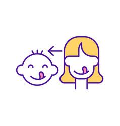 Baby copy facial expression rgb color icon vector