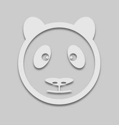 Bear panda face in bright colors vector