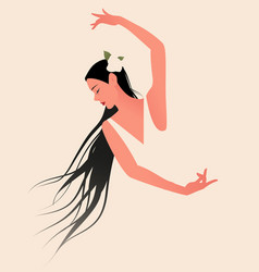 beautiful spanish flamenco dancer wearing a vector image