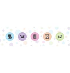 Bill icons vector