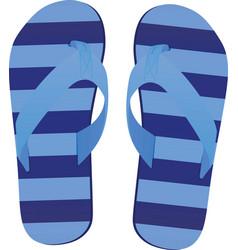 blue striped flip flops vector image