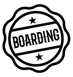 Boarding stamp on white vector