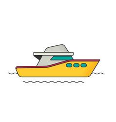 boat flat vector image