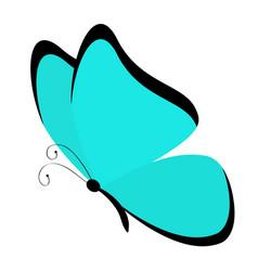 Butterfly icon cute cartoon kawaii funny vector