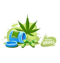 cannabis organic medical vector image