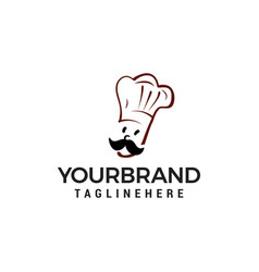 chef logo design concept template vector image