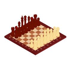 Chess game concept vector