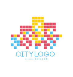 City logo original design abstract geometric vector