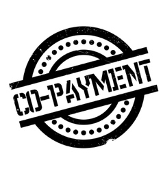 Co-Payment rubber stamp vector image
