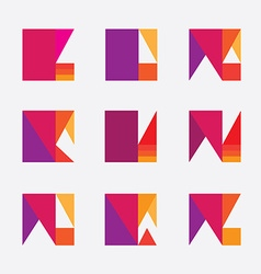 Colorful geometric logo design vector