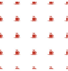 Cup icon pattern seamless white background vector