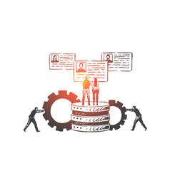 customer relationship management crm concept vector image