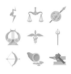 Design ancient and culture logo set vector