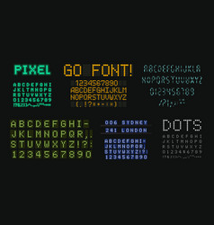 digital letters and numbers set scoreboard style vector image