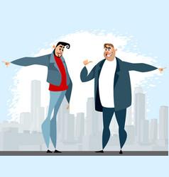 Dispute between two men vector