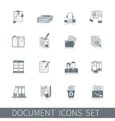 Document Icon Black vector