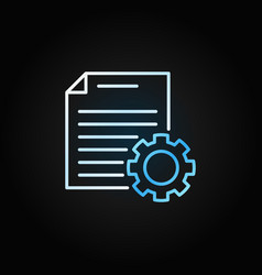 document settings outline creative icon or vector image