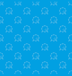 drum pattern seamless blue vector image