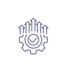 Efficient production and efficiency icon line vector