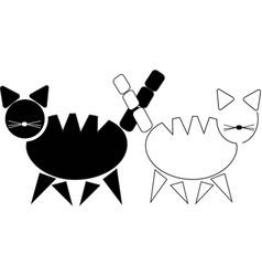 Emage pair schematic contrast cats vector