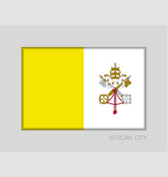 Flag of vatican city national ensign aspect ratio vector