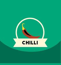 Flat icon design collection chilli emblem vector
