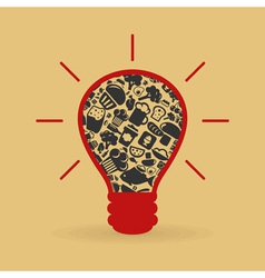 Food a bulb vector image vector image